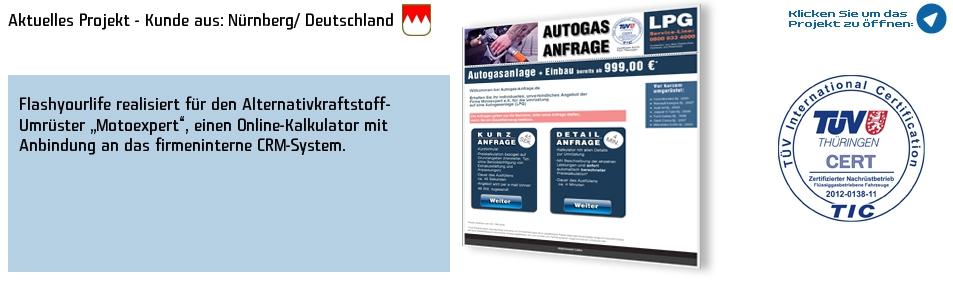 Kunde: Motoexpert/ LPG Autogas Nürnberg
